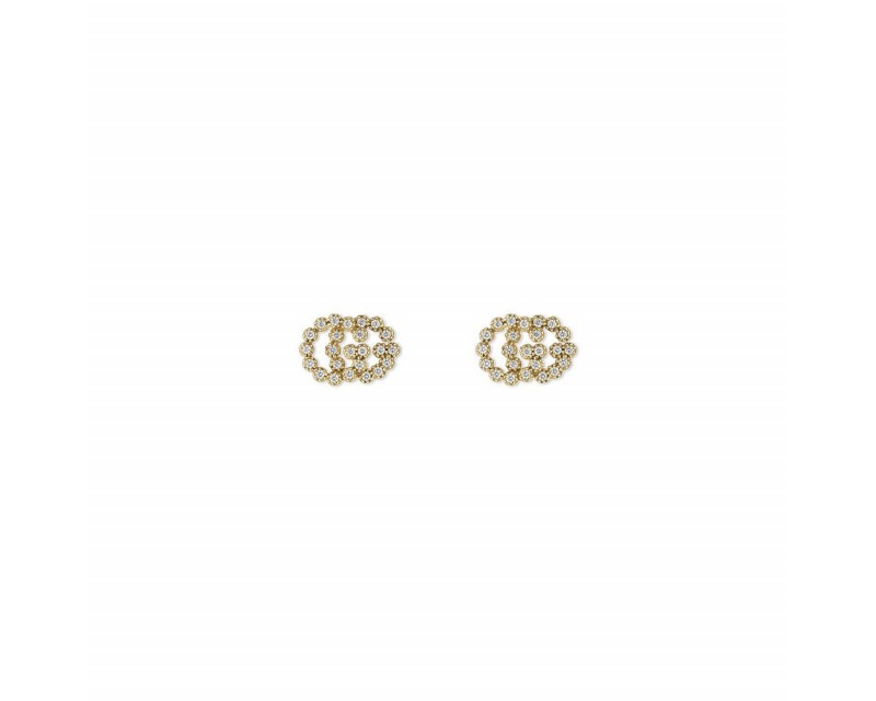GUCCI Puces d'oreille Running G M or jaune diamants
