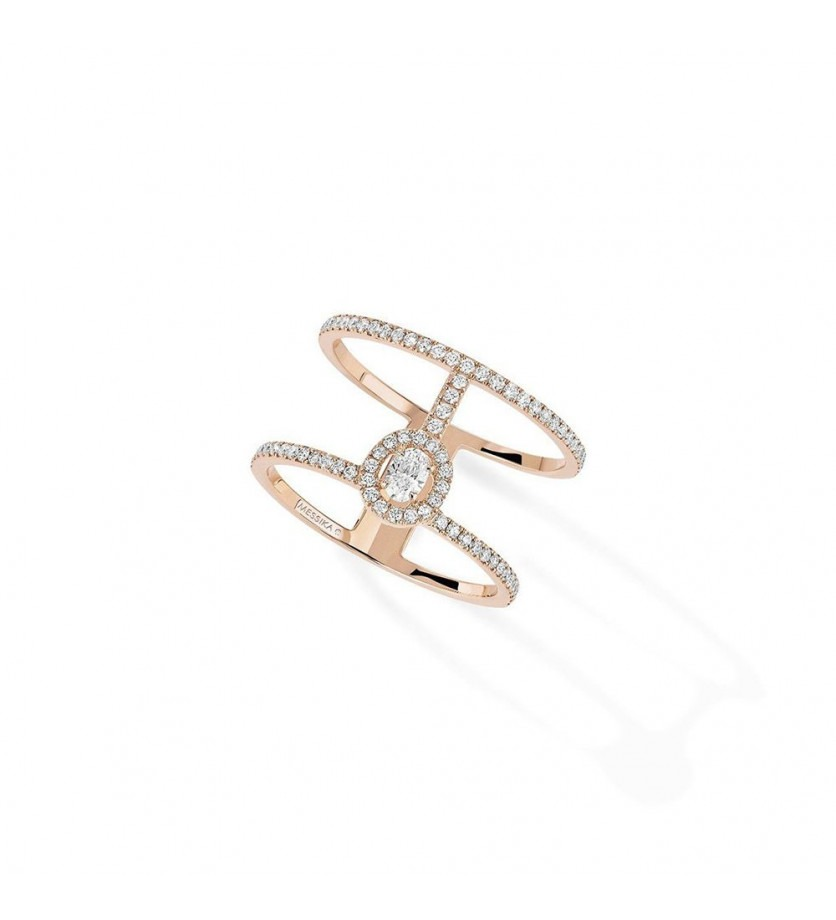 Bague Glam'Azone or rose pavée diamants