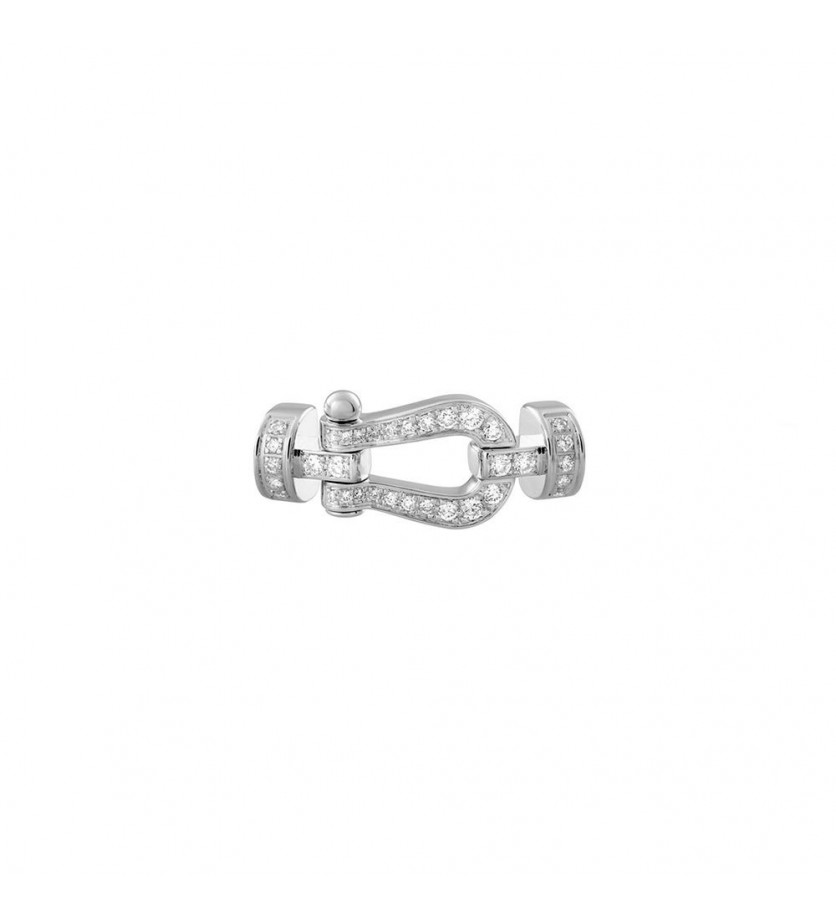 FRED Manille Force 10 MM or gris full pavé diamants