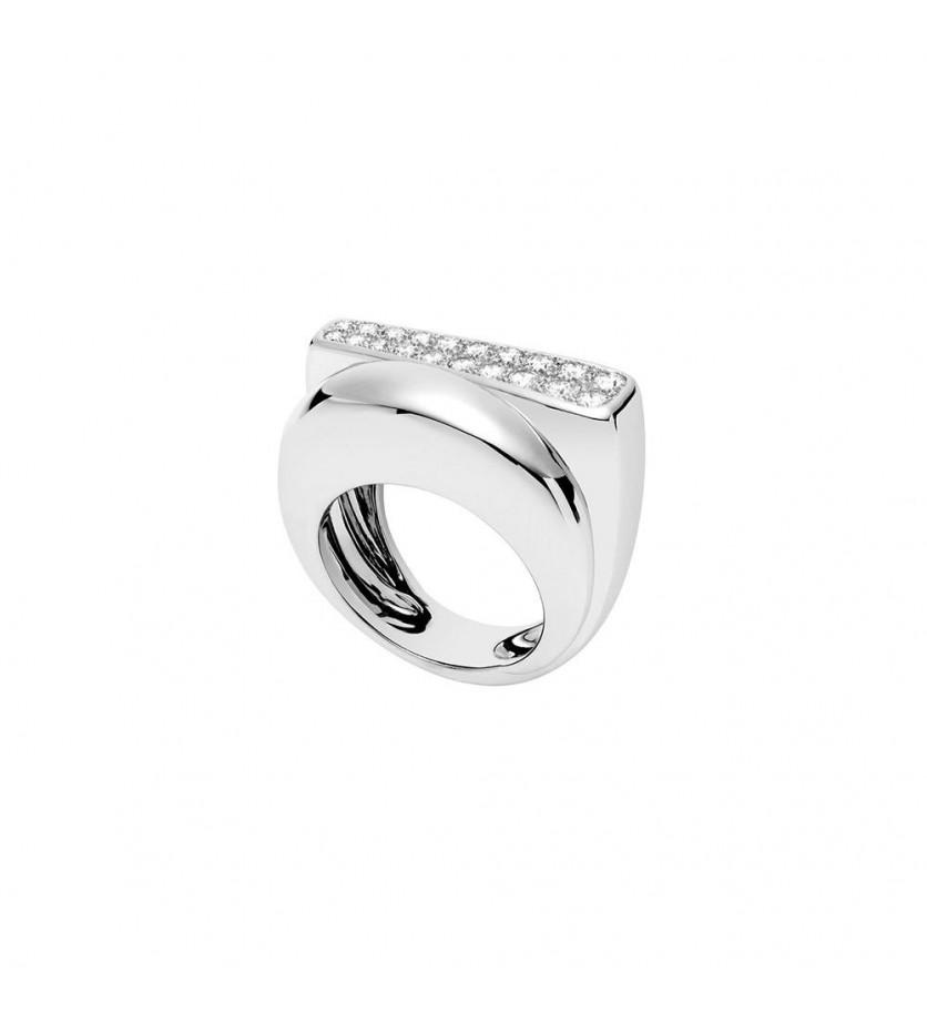 Bague Success MM or gris diamants