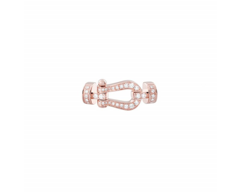FRED Manille Force 10 MM or rose full pavé diamants