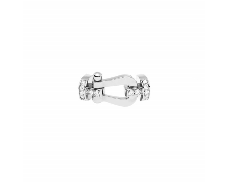 FRED Manille Force 10 GM or gris semi pavé diamants