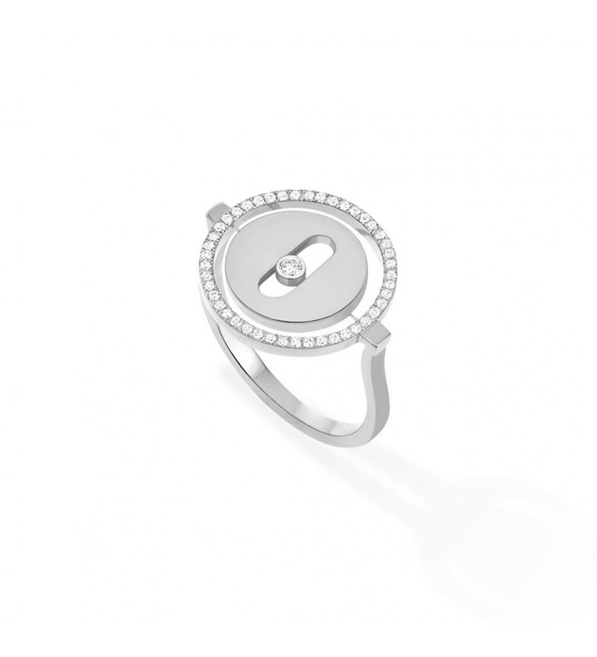 MESSIKA Bague Lucky Move PM or gris diamants
