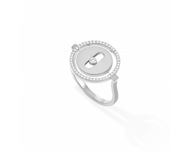 Bague Lucky Move PM or blanc diamants