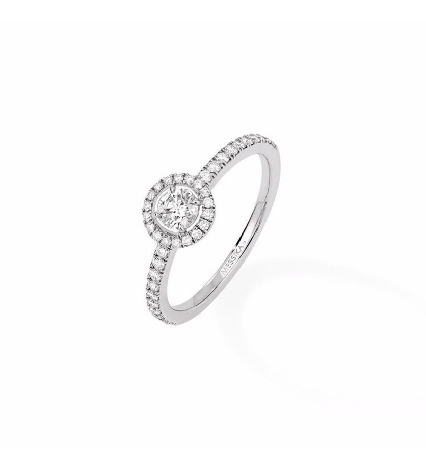 MESSIKA Solitaire Joy or gris diamants taille ronde