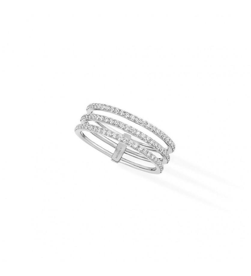 MESSIKA Alliance Gatsby 3 rangs or gris diamants