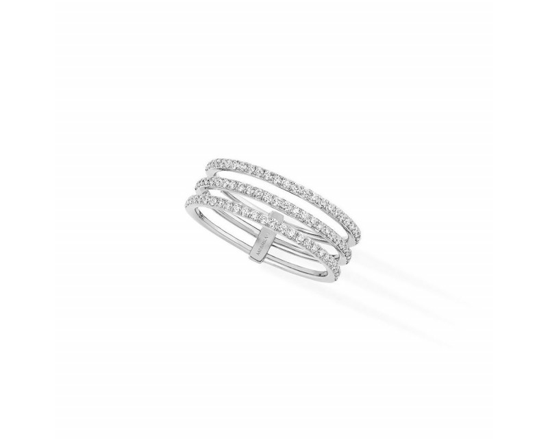 Alliance Gatsby or blanc pavée diamants