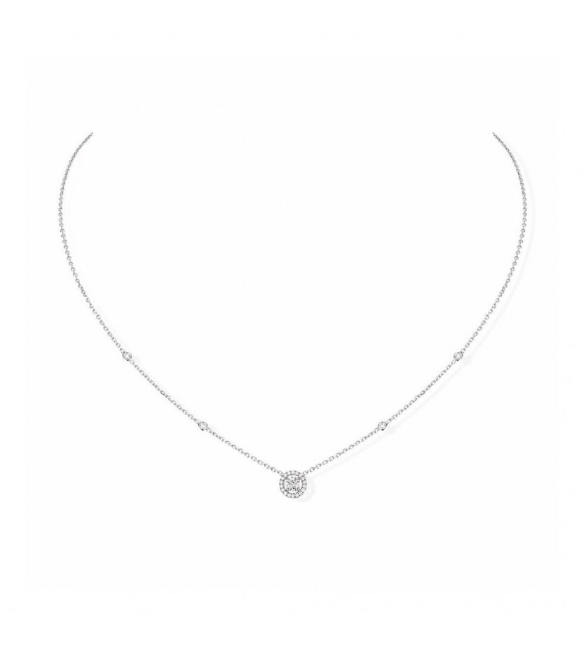 MESSIKA Collier Joy or gris diamant rond diamants