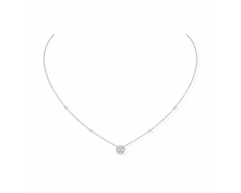 MESSIKA Collier Joy or gris diamant rond diamants