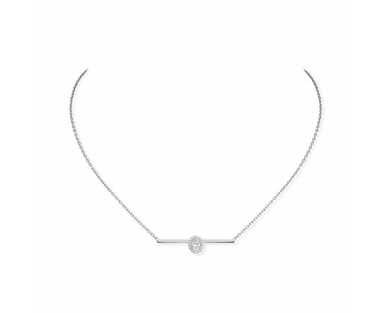 Collier Glam'Azone or blanc diamants