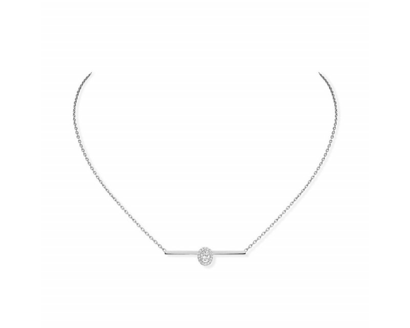 MESSIKA Collier Glam'Azone or gris diamants sur chaine