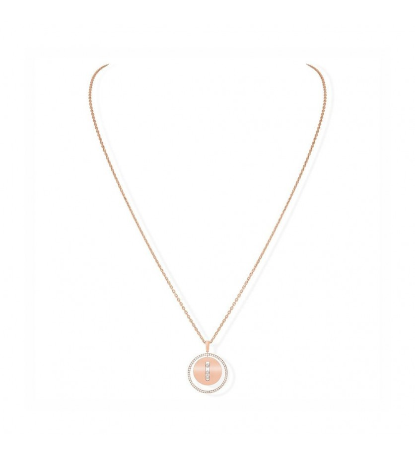 MESSIKA Collier Lucky Move MM or rose diamants