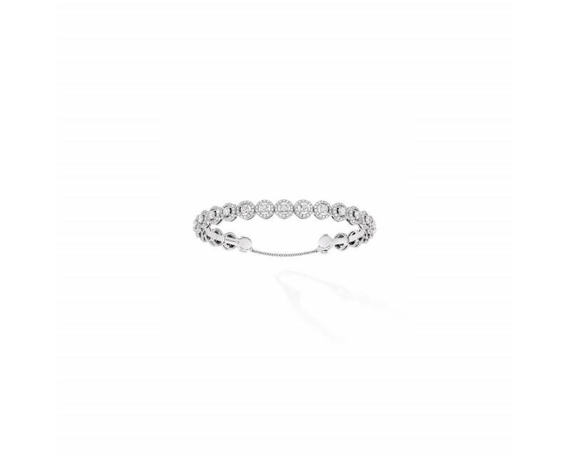 MESSIKA Bracelet jonc Joy Skinny or gris diamants