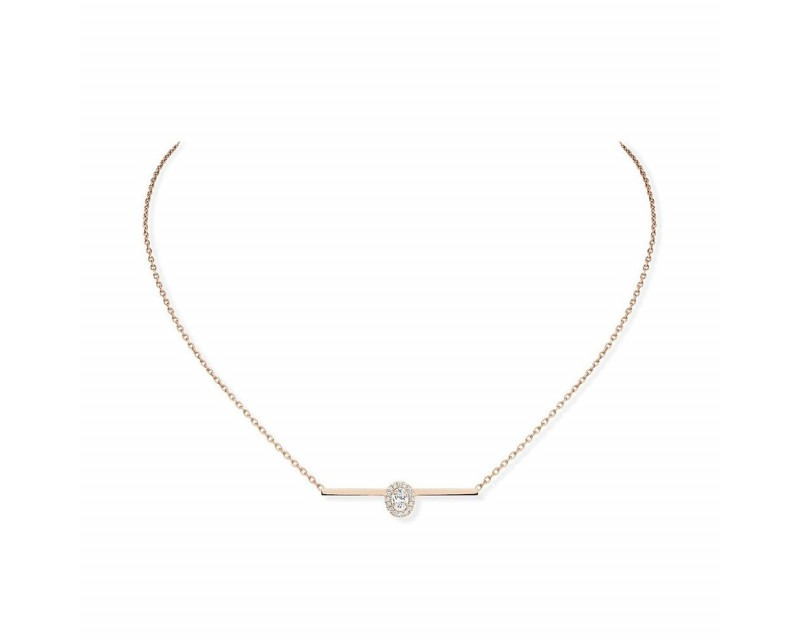 MESSIKA Collier Glam'Azone or rose diamants sur chaine