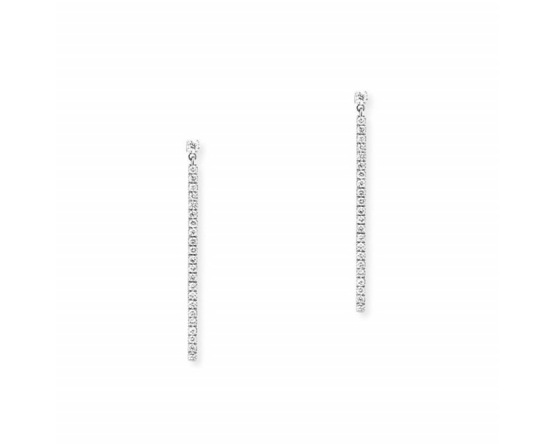 MESSIKA Boucles d'oreilles pendantes Gatsby barrettes or gris diamants