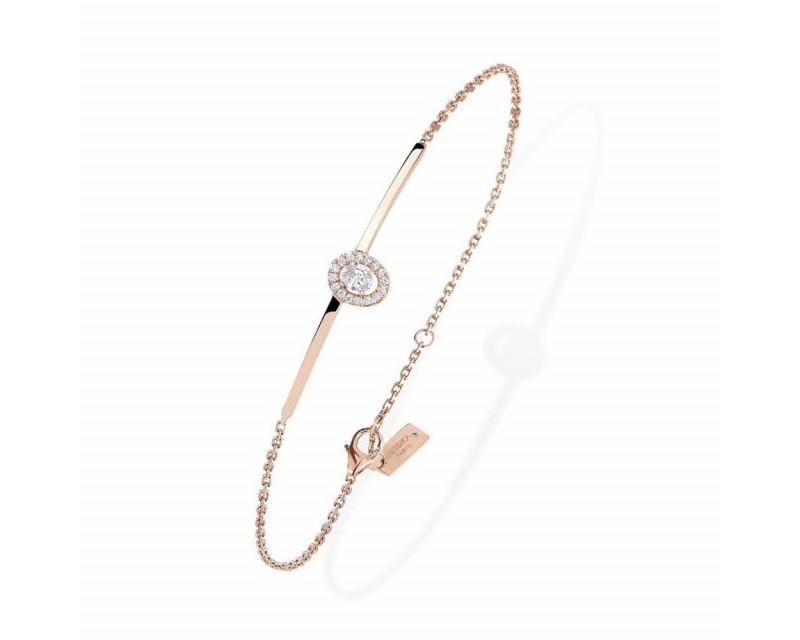 Bracelet Glam'Azone or rose diamants