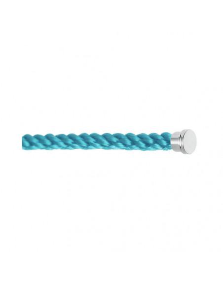 Câble Force 10 GM corderie bleu turquoise embouts acier