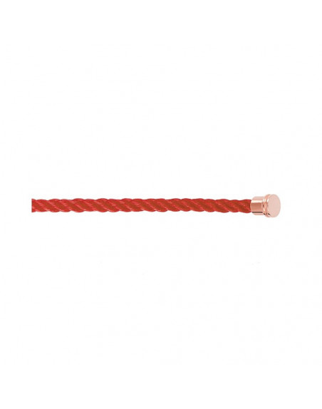 Cable Force 10 MM corderie rouge embouts roses