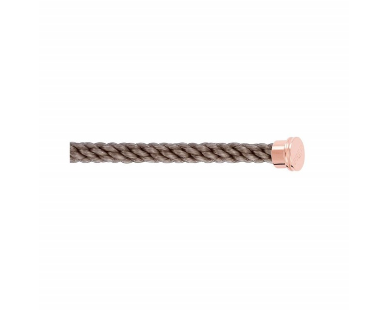 FRED Câble Force 10 GM corderie taupe embouts roses