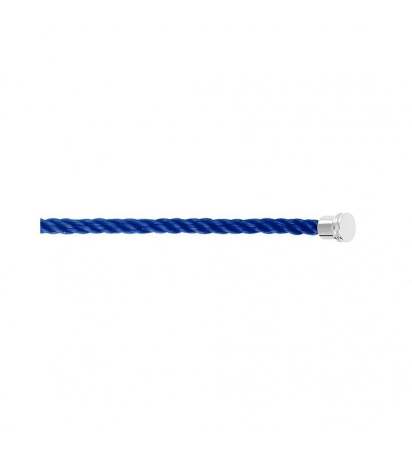 FRED Câble Force 10 MM corderie bleu indigo embouts gris aciers