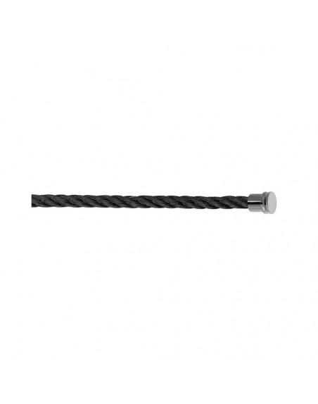 Câble Force 10 MM corderie noire embouts aciers plaqués PVD noir