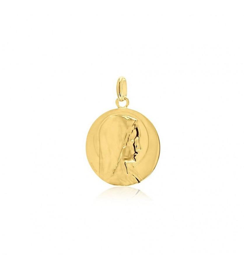 Médaille Vierge Jeune 18mm polie mince