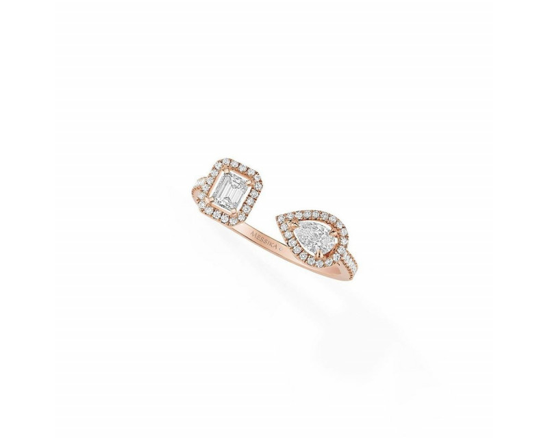 Bague My Twin PM or rose diamants