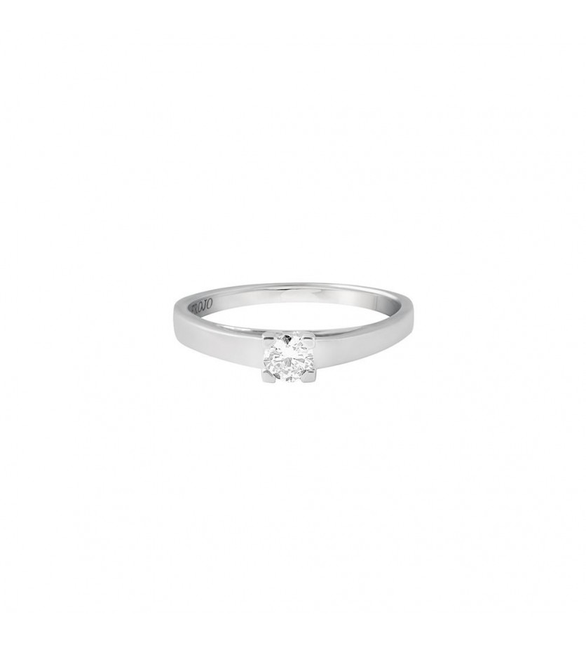 FROJO Solitaire or gris 4 griffes 0,20ct GSI