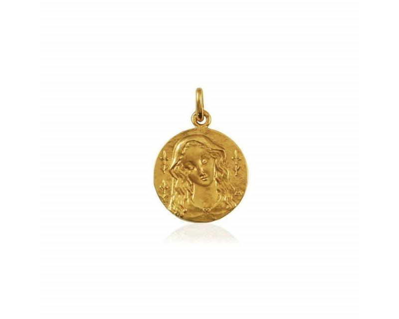 ARTHUS BERTRAND Médaille Vierge au Lys or jaune poli 18mm