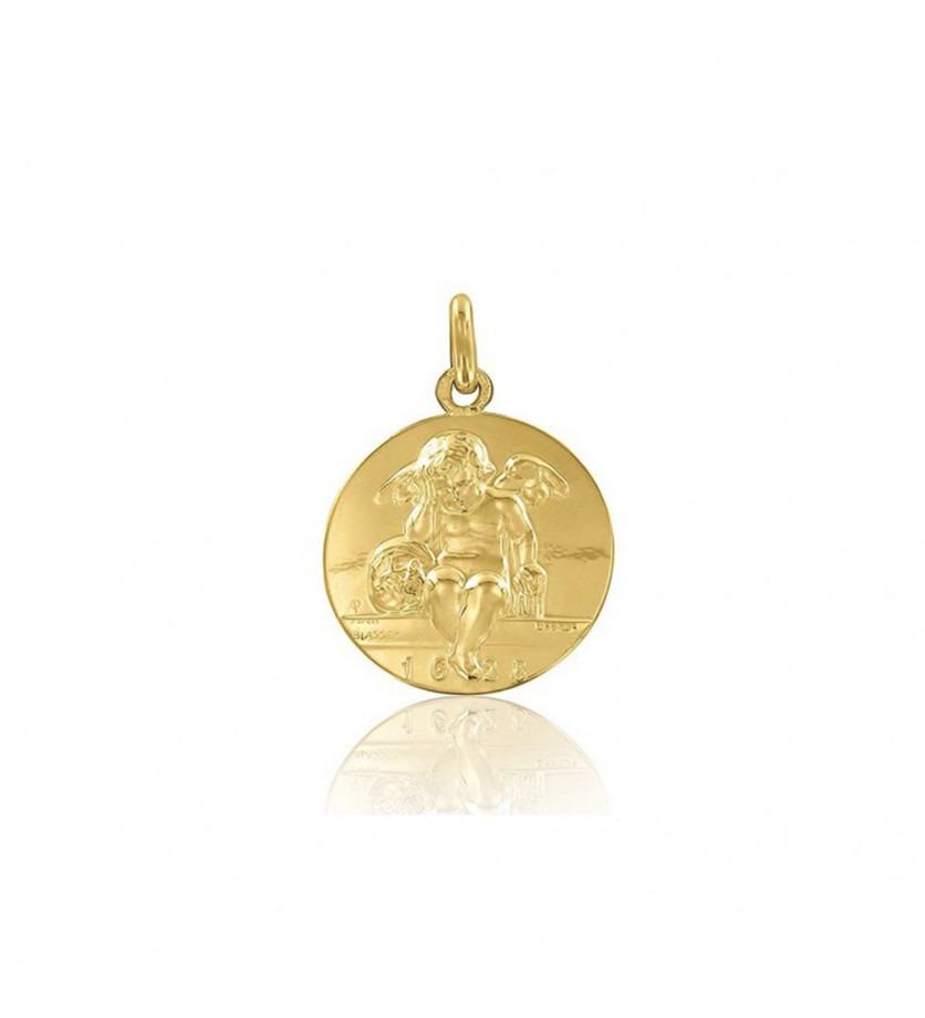 ARTHUS BERTRAND Médaille Ange d'Amiens or jaune polie 18mm