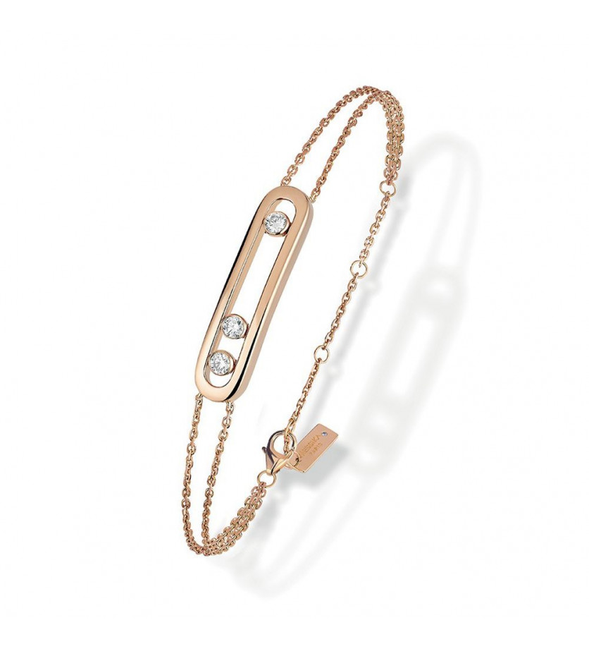 Bracelet Messika Move classique or rose et diamants
