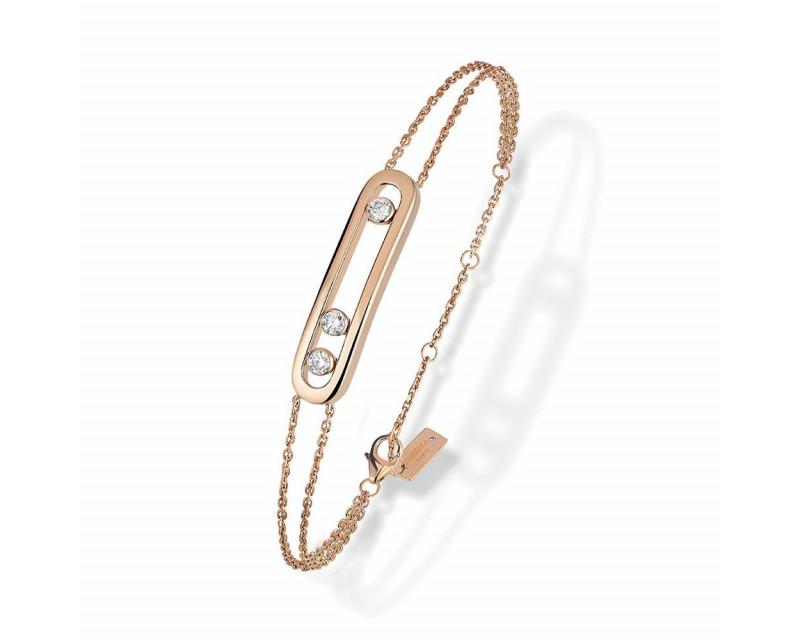 Bracelet Move Classique or rose diamants