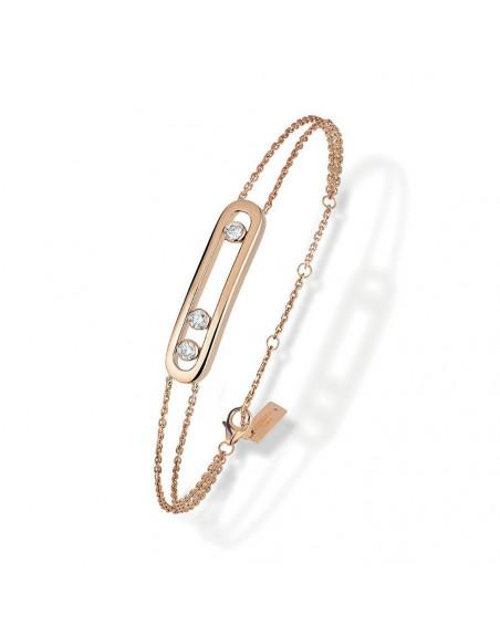 Bracelet Messika Move classique or rose et diamants