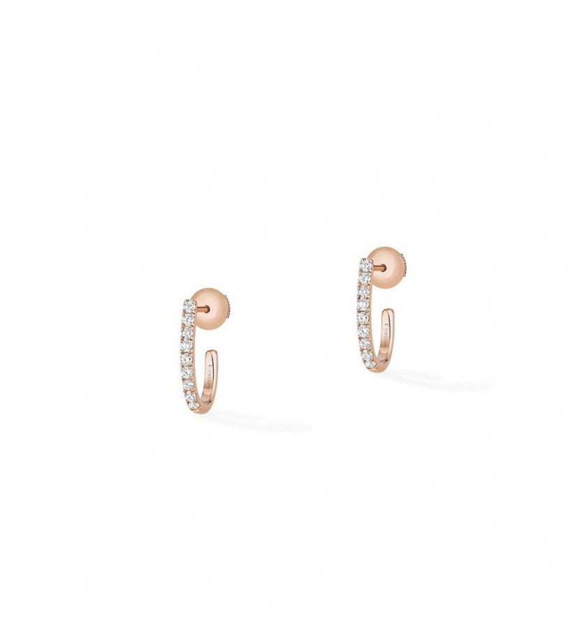 MESSIKA Mini Crèoles Gatsby XS or rose diamants