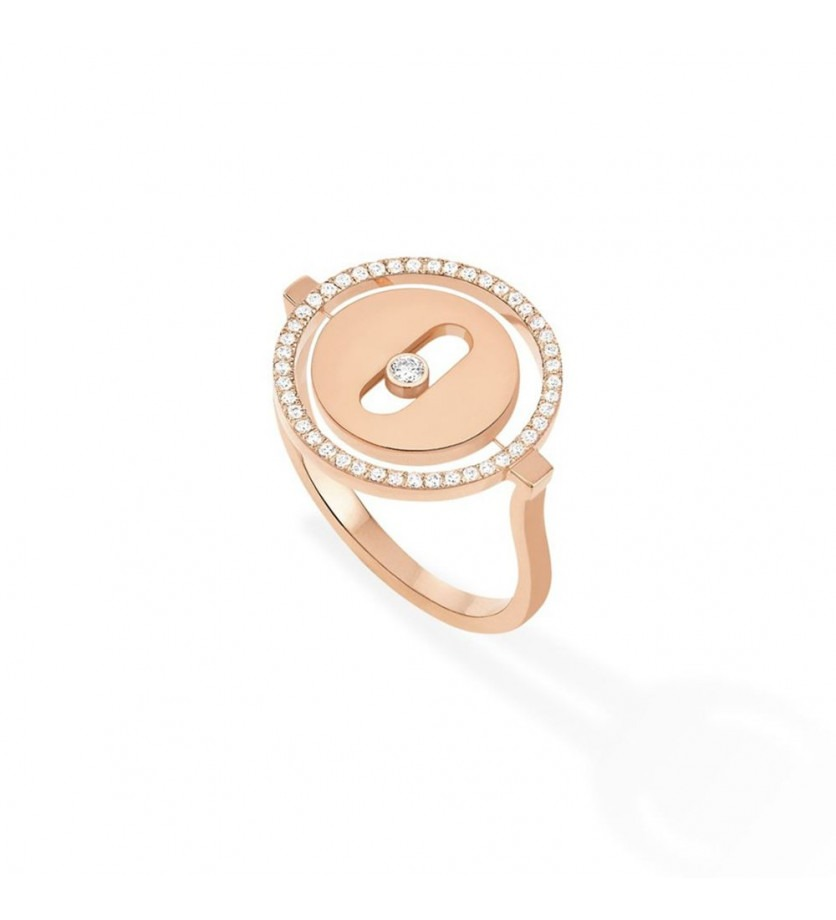 Bague Lucky Move PM or rose diamants