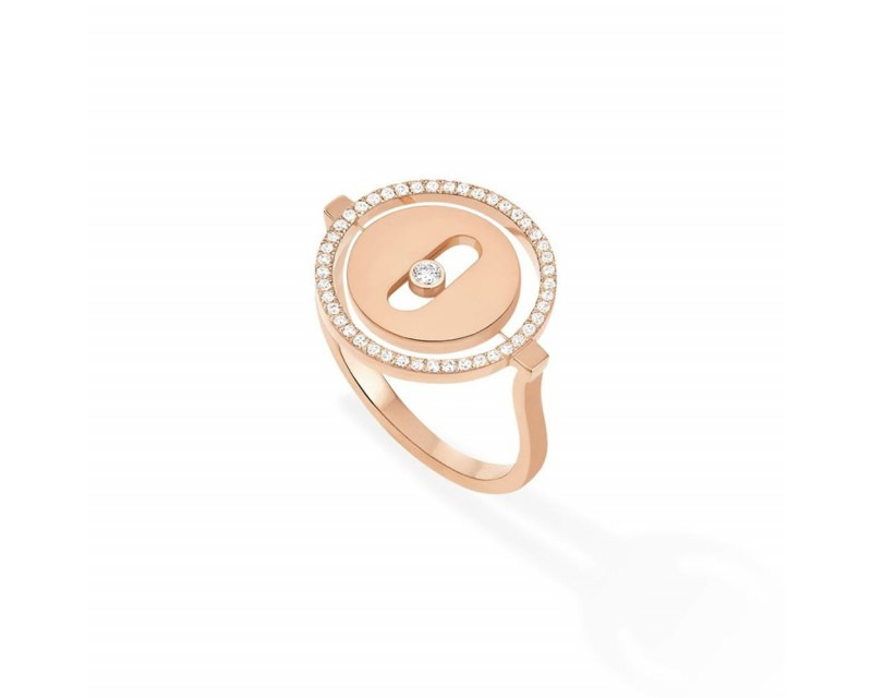 MESSIKA Bague Lucky Move PM or rose entourage diamants