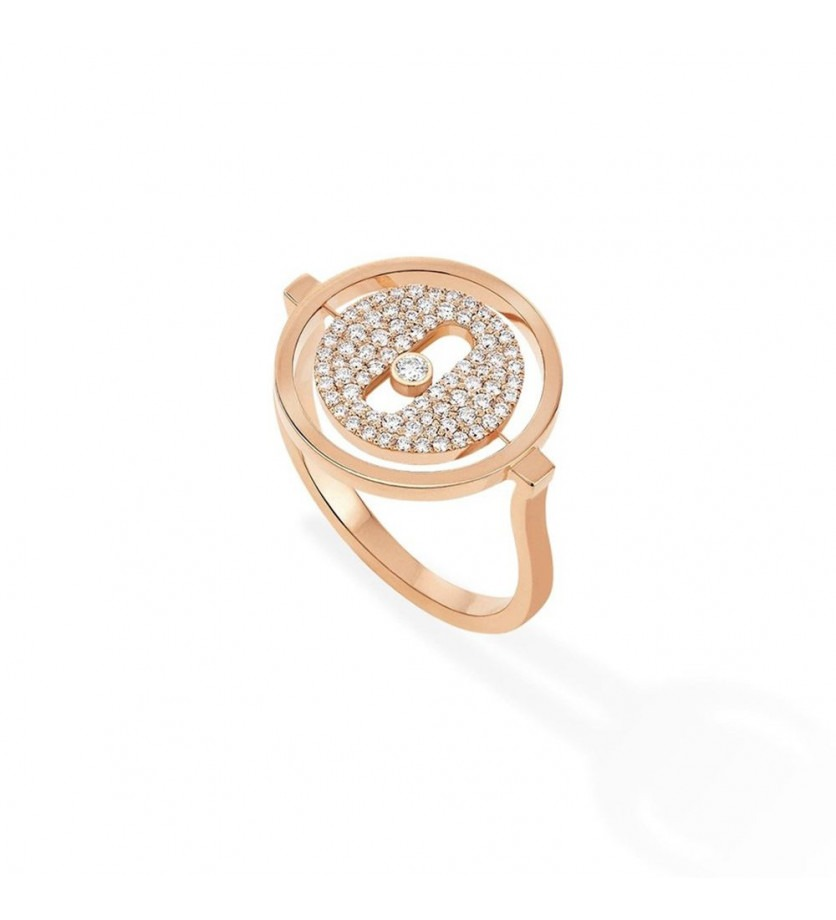 MESSIKA Bague Lucky Move PM or rose pavée diamants