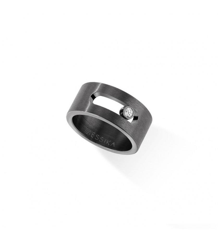 MESSIKA Bague Move Titanium gris et diamant