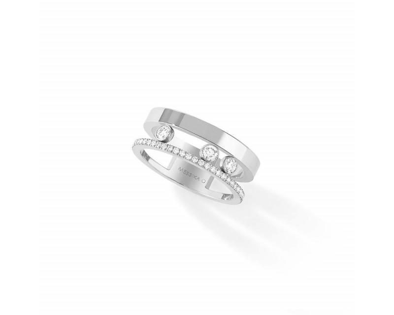 Bague Move Romane or blanc diamants