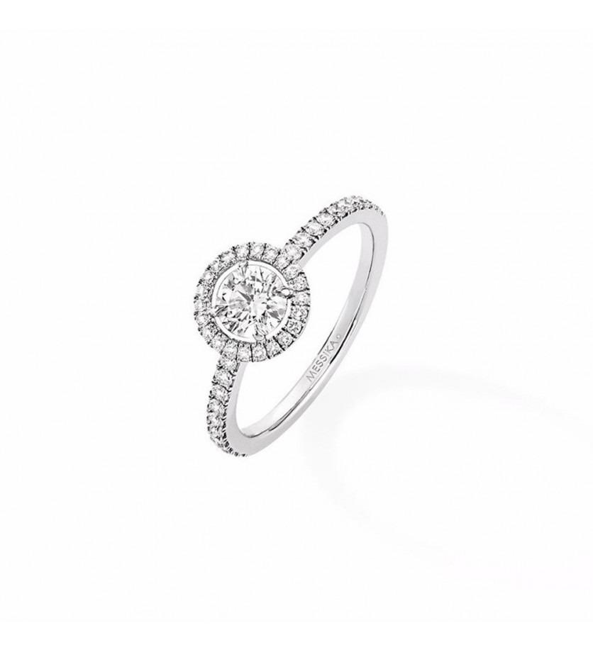 Solitaire Joy GM or gris diamant taille ronde 0,46ct EVS1 certificat GIA 3225508536 entourage diaman