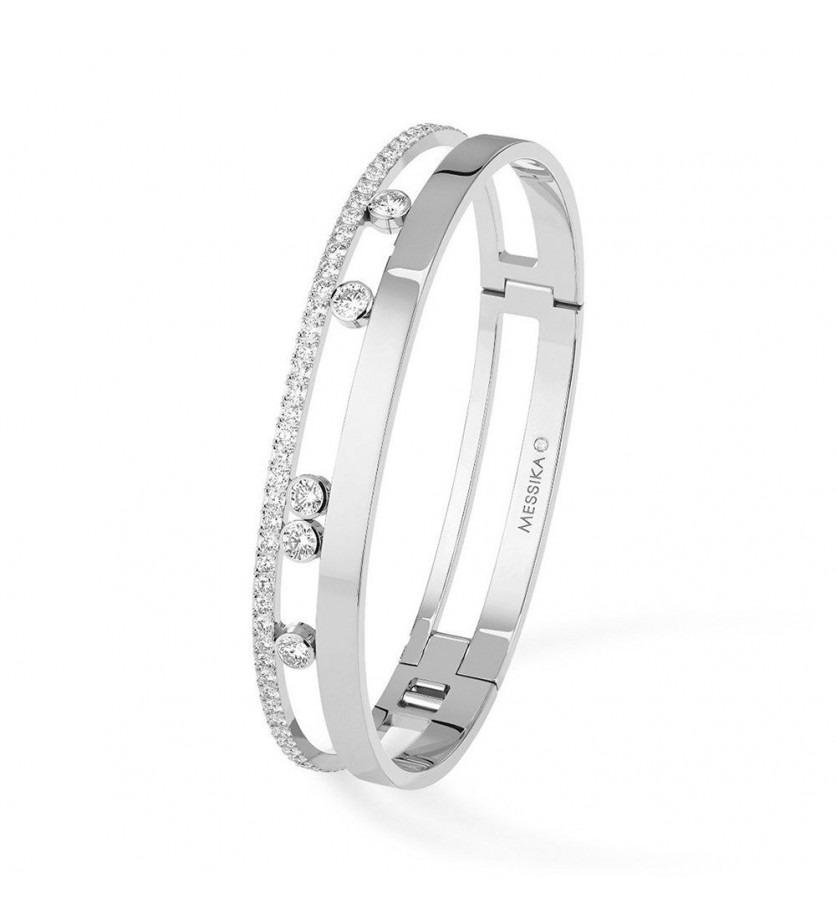 MESSIKA Bracelet bangle Move Romane GM or gris diamant taille M