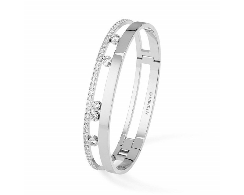 MESSIKA Bracelet bangle Move Romane GM or gris diamant taille M