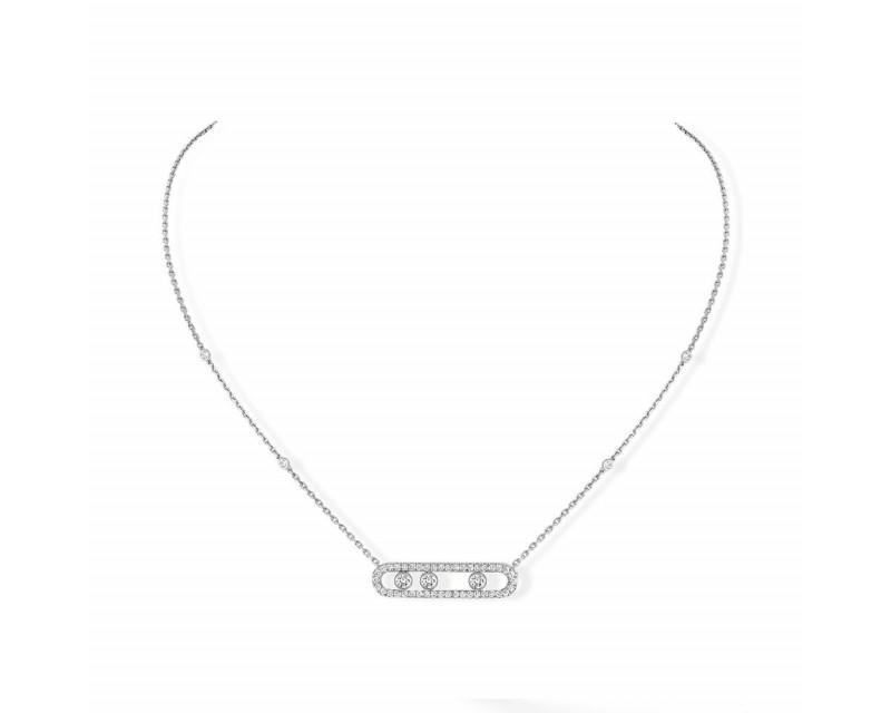 MESSIKA Collier Move pavé or gris diamants sur chaîne or gris