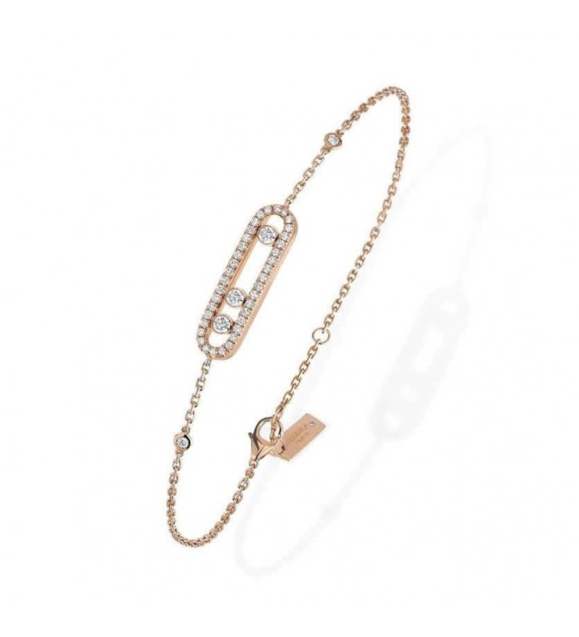 MESSIKA Bracelet Baby Move or rose pavé diamants
