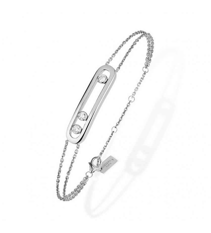 MESSIKA Bracelet Move or gris diamants