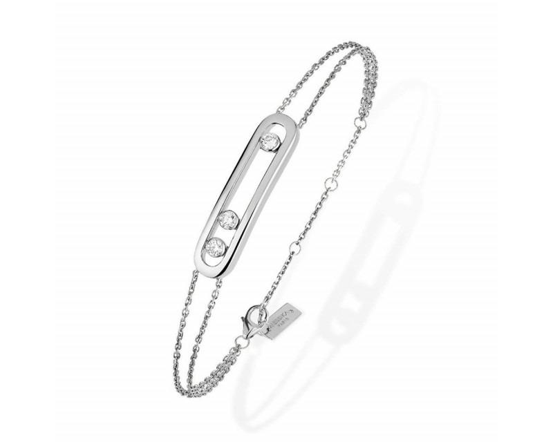 Bracelet Move or blanc diamants