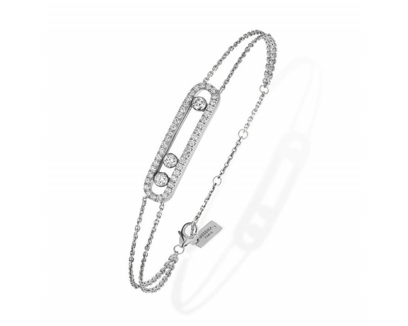 Bracelet Move pavé or gris diamants