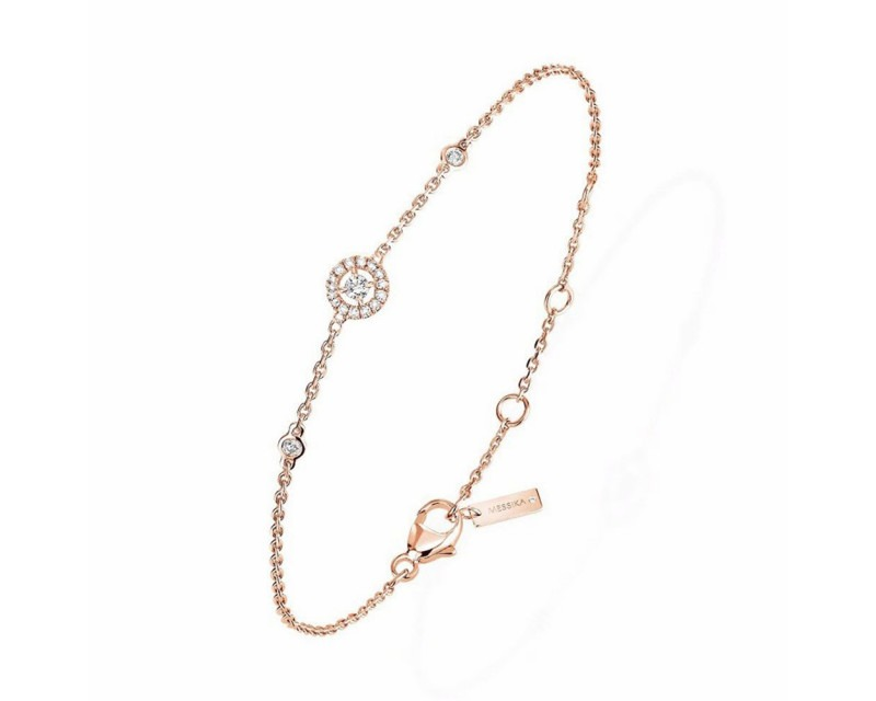 MESSIKA Bracelet Mini Joy XS or rose diamants