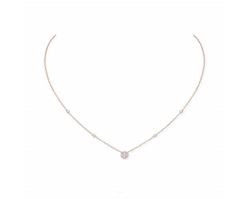 Collier mini Joy XS or rose diamants sur chaîne, longueur ajustable
