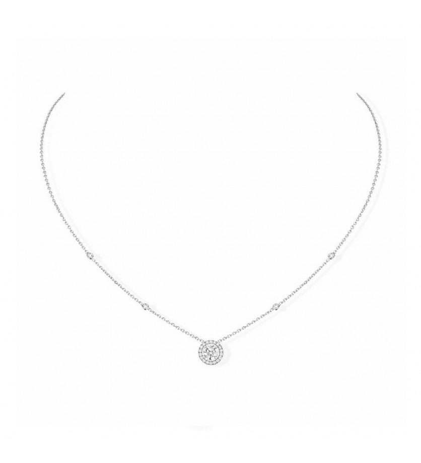 Collier Joy or blanc diamants